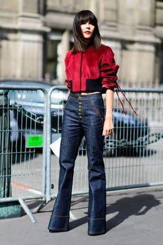 Street style at Paris Fashion Week, October 2016. Photo: Tyler Joe.