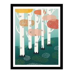Scandi Art Prints - Forest, Framed Print, 50x40cm