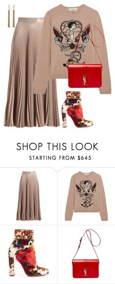 """A Line"" by mh3914rp ❤ liked on Polyvore featuring A.L.C., Valentino, Christian Louboutin and Yves Saint Laurent"