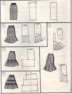 Amazing Sewing Patterns Clone Your Clothes Ideas. Enchanting Sewing Patterns Clone Your Clothes Ideas. Skirt Patterns Sewing, Clothing Patterns, Skirt Sewing, Fashion Sewing, Diy Fashion, Sewing Tutorials, Sewing Hacks, Pattern Drafting Tutorials, Modelista