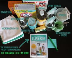 Interested in DIY cleaners? Put together the perfect kit with these natural supplies and essentials.