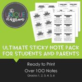 Ultimate Sticky Note Pack for Students and Parents