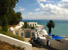 Overlooking the Gulf of Tunis - Sidi Bou Said, Tunis