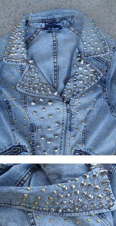 Punk Studded Denim Jacket