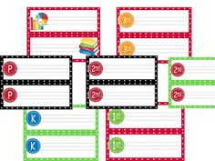 Everything you need to create a fun and bright polka dot classroom theme!