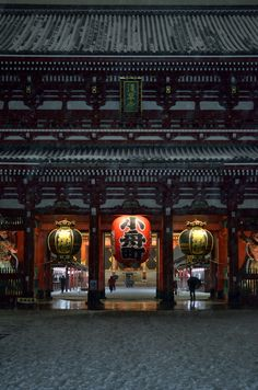 Senso-ji temple, Tokyo, Japan.  Photography by da_yama on Flickr
