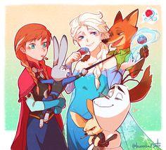 Frozen & Zootopia Crossover