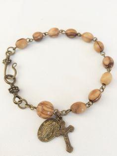 Wood Bracelet, Rosary Bracelet, Rosary Beads, Religious Gifts, Religious Jewelry, Beaded Jewelry, Beaded Bracelets, Necklaces, Catholic Tattoos