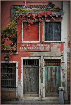 Store facade in Italy ~ The Doors, Windows And Doors, Purple Home, Shop Fronts, Closed Doors, Bologna, Doorway, Beautiful Places, Inspiration