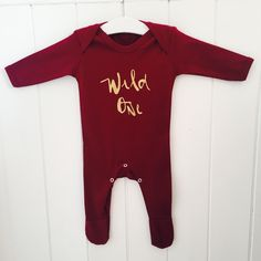 Wild one oxblood rompersuit