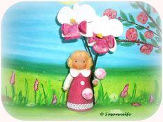 Orchidee Blumenkinder Jahreszeitentisch von Susannelfes Blumenkinder  auf DaWanda.com