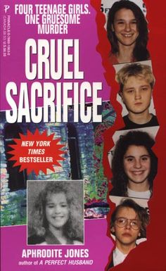 Cruel Sacrifice by Aphrodite Jones...True Crime.  OMG, this book I could not put down!!  Veteran true crime journalist Aphrodite Jones reveals the shocking truth behind the most savage crime in Indiana history--the torture, mutilation, and murder of 12-year-old Shanda Sharer by four teenage girls. Here is a tragic story of twisted love and insane jealousy, lesbianism, brutal child abuse, and sadistic ritual killing in small-town America