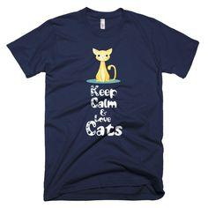 Keep Calm and Love Cats  #dachshund #mugs #dogs #funnycat #teeshirt #coffeemug #cats #shihtzu #animals #persian