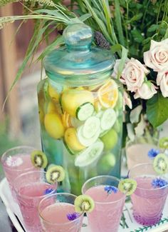 Wedding Reception Ideas - Pink Cocktail and Delicious Lemon Can