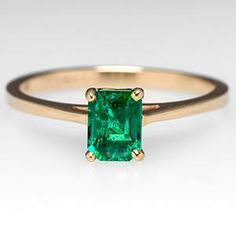 emerald engagement ring antique
