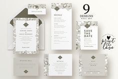 Wedding Invitation Suite - Karina by Print The Love Boutique on @creativemarket