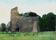Glastonbury Abbey Ruins in England.
