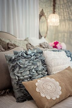 Diy Decorate A Pillow With A Crochet Doily
