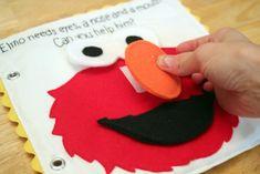 Get Your Craft On: Sesame Street Quiet Book - Elmo