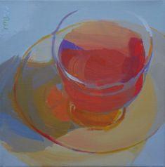 glass, tea, light, transparent, reflected light, shadow, teacup