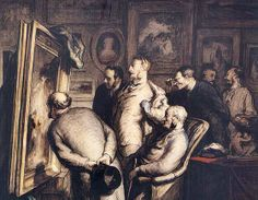 Honoré Daumier  (1808-1879) 'The Critics', 1862