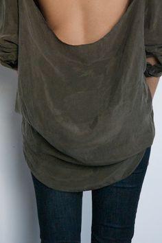 DIY Weekly - cut out Back Shirt