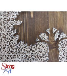 DIY String Art Kit - Inverse Oak Tree String Art Kit, Tree String Art, DIY Kit.  Visit www.StringoftheArt.com to learn more about this beautiful DIY String Art Oak Tree and how you can easily string it together and display it inside your home.