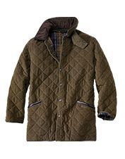 Sport a classic look with this men's moleskin jacket from Barbour.