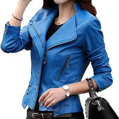 Vintage Plus Size Slim Rivet Outwear Leather Jacket