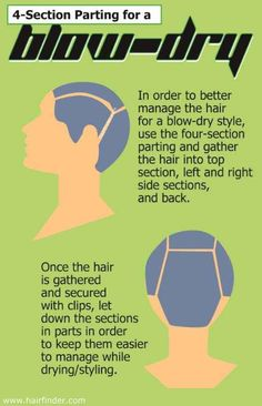 You only need to dry your hair in four sections, not one million. | 16 Hair Drying Hacks For The Most Perfect Blowout