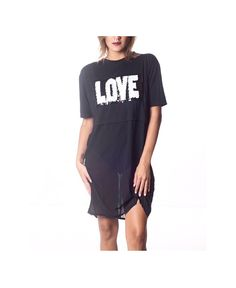 TEXT ONLY L-V 11-8pm Sab: 11-3pm Dom: NO TEXT    #sale 30%off  L O V E chiffon oversized tee (other styles available)  ONE SIZE  Festival Ready   For APPOINTMENTS, PRICES or INFO pls thru TEXT ONLY 787.605.3404 11-8pm  WE SHIP WORLDWIDE  #shoplocal #ootd #fashion #sanjuan #calleloiza #puertorico #compralocal #trend #trendy #sexy #LOOKBOOK #musthave #follow #love #relax #boho #mesh #black #oversized #layer #chiffon #summer #highwaist #festival #backless #coachella2016 #lollapalooza2016