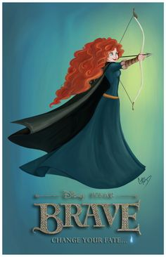 Brave: Princess Merida Artwork by madmoiselleclau First for REAL badass princess, can't wait.