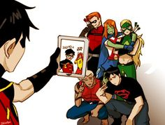 I do think they're the biggest trolls on their group. Young Justice group photo