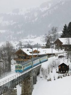 Ski Train, Gstaad, Bern, Switzerland so many memories took this train every weekend. Gstaad is absolutely beautiful! Even nicer if you can visit during off Season. By Train, Train Tracks, Zermatt, Places Around The World, Around The Worlds, Places To Travel, Places To Visit, Trains, Winterthur