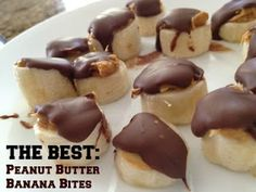 "To help your kids live and eat ""higher"" ... HERE'S THE GREATEST HEALTHY SNACK FOR KIDS = Peanut Butter Banana Bites"