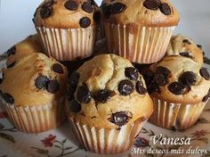 Muffins de Vainilla con Chips de Chocolate