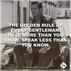 Golden Rule #daily #quote #lifestyle #gentleman #mindset #rules #inspiration