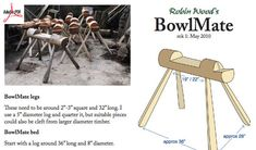 Dowload free plans to make the BowlMate a bowl carving horse.