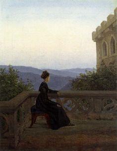Woman on the Balcony, Carl Gustav Carus, 1827.