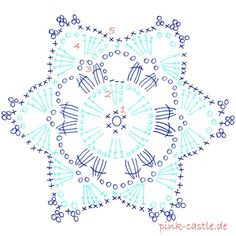 49 Ideas for crochet christmas ornaments patterns snow flake Crochet Snowflake Pattern, Crochet Stars, Crochet Motifs, Christmas Crochet Patterns, Crochet Snowflakes, Crochet Diagram, Doily Patterns, Diy Crochet, Crochet Doilies