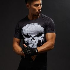 Compression Shirts Men | 3D Printed T-shirts | Short Sleeve Cosplay Fi – Bereal.co