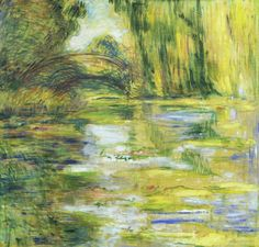 Water Lily Pond Bridge by Claude Monet