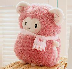 so cute *-* Pink Sheep, Cute Plush, All Things Cute, Cute Toys, Kawaii Cute, Rilakkuma, Felt Animals, Cute Illustration, Cute Pink