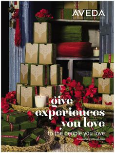 Give experiences you love to the people you love. Aveda for the holidays.