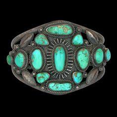1950s Royston Turquoise Sunburst Bracelet
