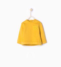 Guipure lace organic cotton sweatshirt-Sweatshirts-Baby girl | 3 months - 3 years-KIDS | ZARA United States