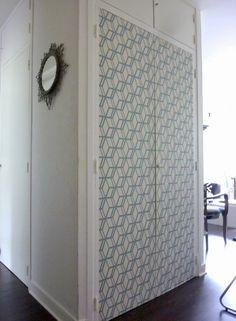 / Papier-peint / Décorer des portes de placard | Valy's blog