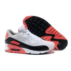 Womens White Air Max 90 Premium Em Shoes Black Red