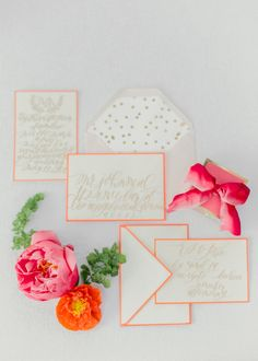 Coral and Citrus Summer Wedding Ideas Styled by Summer Watkins Floral by Type A Society Photography by Kelly Saure
