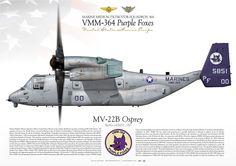 "UNITED STATES MARINE CORPS Marine Medium Tiltrotor Squadron 364 (VMM-364) ""Purple Foxes""Marine Corps Air Station Camp Pendleton, CA"